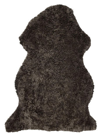 Curly Rug Sheepskin - NEW BROWN MELANGE Lambskin from Australia