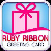 Ruby Ribbon Greeting Cards