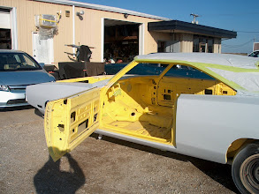 Photo: with the inside painted it was time to get the outside primed and block sanded