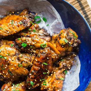 Sticky Slow Cooker Chicken Wings with Pineapple 5 Spice Sauce {Whole30 + Paleo + Super Simple}.