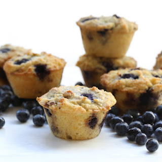 Bakery Style Low Carb Blueberry Muffins.
