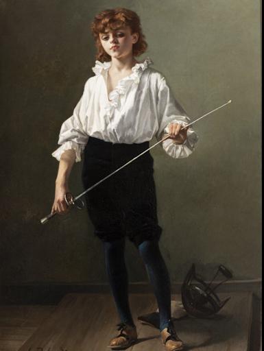 Segoura Fine Art - Alcide-Théophile Robaudi : La Leçon d'Escrime