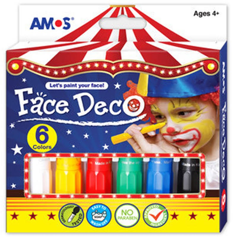 AMOS 人體畫臉彩繪蠟筆(6色)