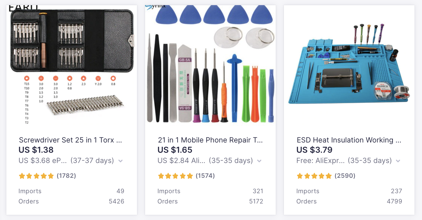 In-Demand Products to Sell with Oberlo: Phone Repair Kits