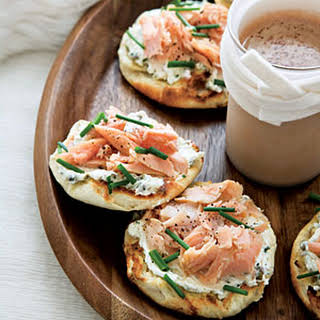 Smoked-Trout-and-Caper-Cream-Cheese Toasts.