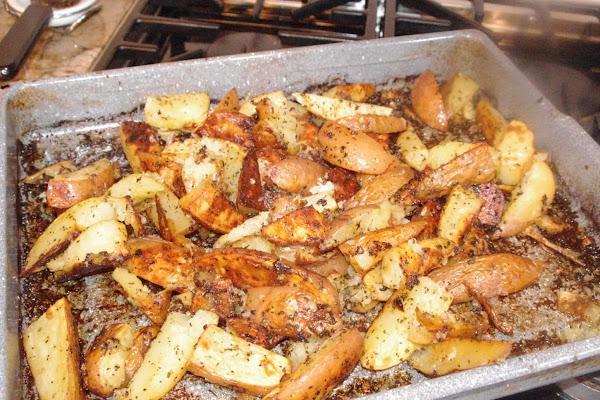 Oven Roasted Greek Potatoes Recipe