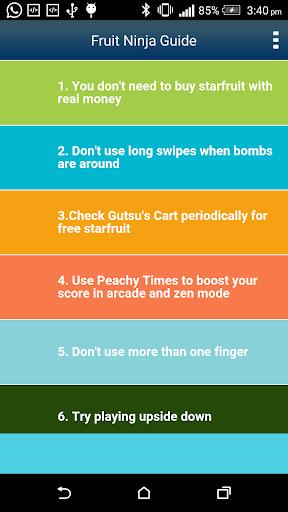 Guide for Fruit Ninja