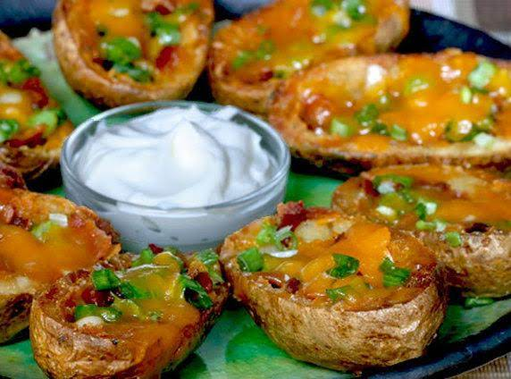 Broiled Potato Skins Recipe