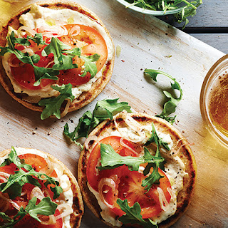 Creamy Asiago Mini Naan Pizzas