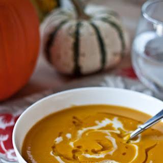 Roasted Acorn Squash and Sweet Potato Soup