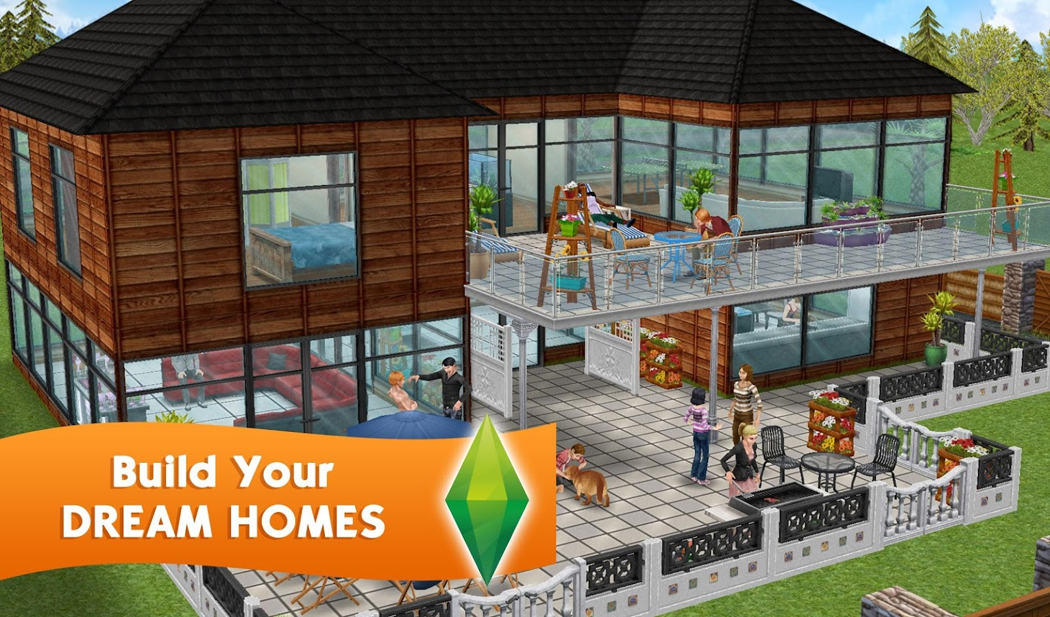 The sims freeplay android apps on google play for Casa de diseno sims freeplay