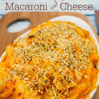 Baked Butternut Squash Macaroni and Cheese.