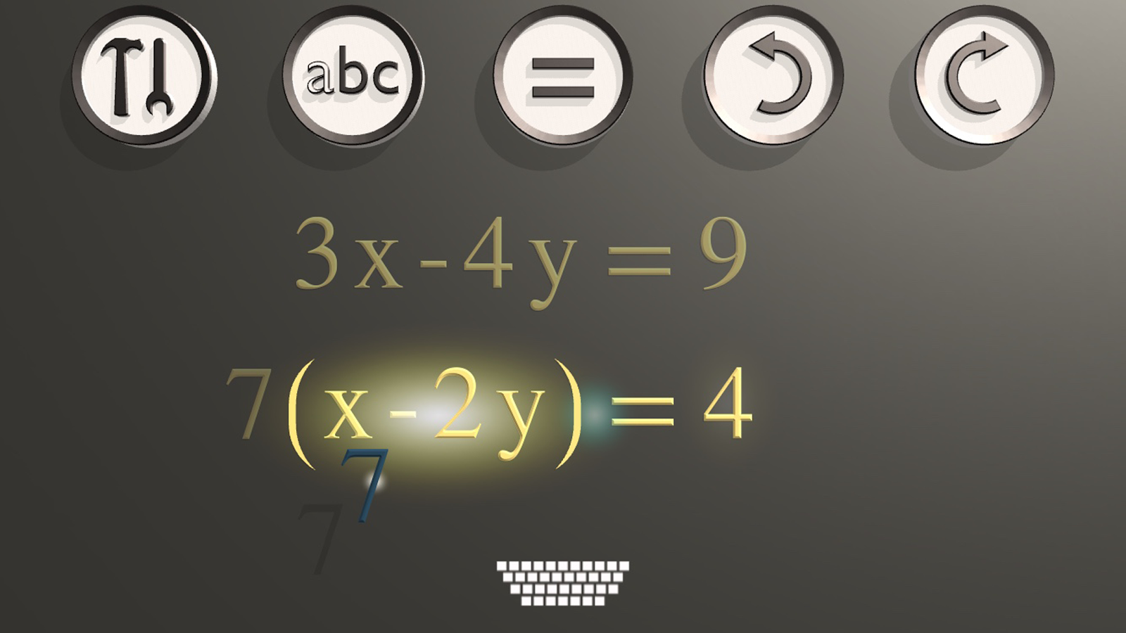 Alef: algebra- screenshot