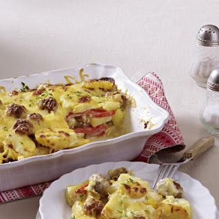 Sausage, Pepper and Potato Casserole.