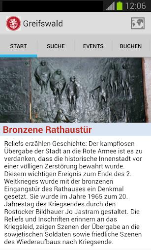 Greifswald-App screenshots 2