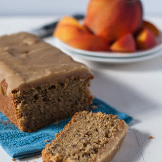 Peach Bread with Salted Caramel Glaze