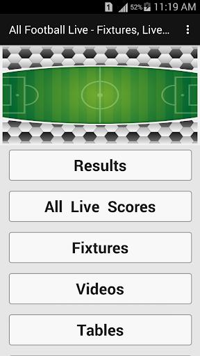All Football Live - Fixtures, Live Scores, News 1.1 screenshots 1