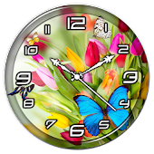 Butterfly Clock Live Wallpaper