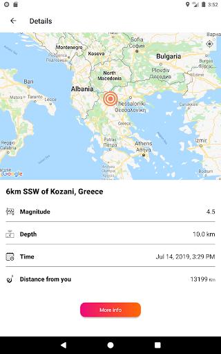 Earthquake Tracker - Latest quakes, Alerts & Map 3.0.1 screenshots 10