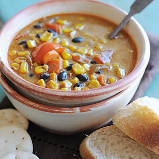 Roasted Corn and Black Bean Soup