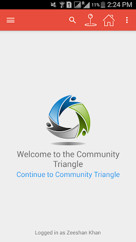 android Community Triangle Screenshot 0