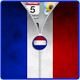 France Flag Zip Screen Lock icon