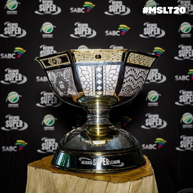 Mzansi Super League trophy unveiled.