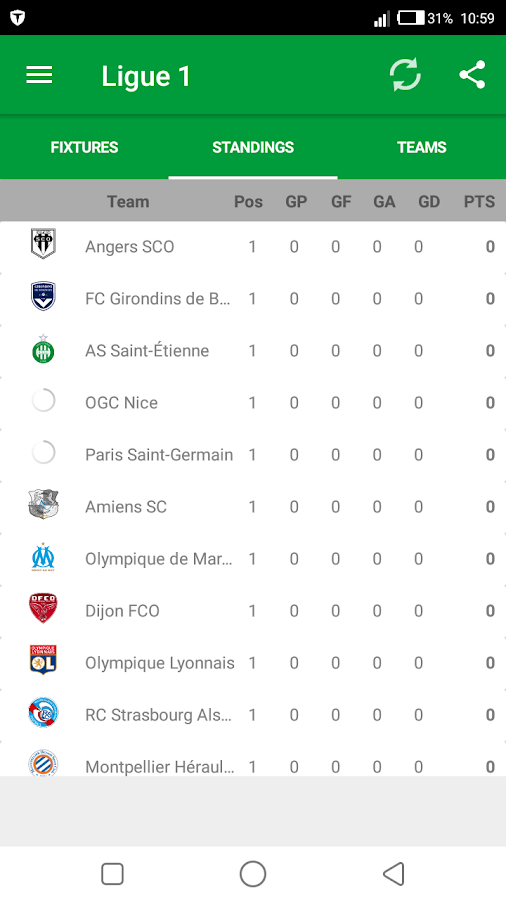 France Ligue- screenshot