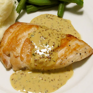 Oven Baked Chicken Breasts with Mustard Sauce