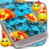 Galaxy Keyboard Theme For GO
