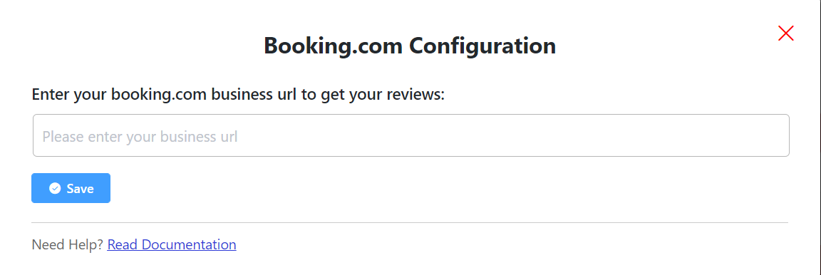 booking.com reviews configuration