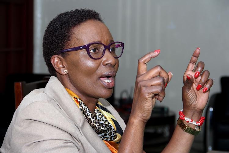 Former Nairobi County Assembly Speaker Beatrice Elachi.