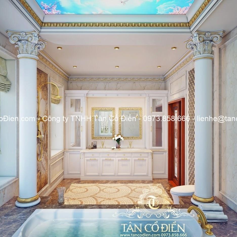 Phòng tắm sang trọng trong biệt thự tân cổ điển