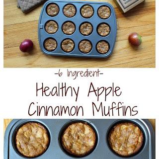 6 Ingredient Healthy Apple Cinnamon Muffins.