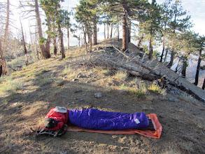 Photo: Fine campsite on Copter Ridge