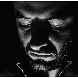 by Isaac De Jesus - Novices Only Portraits & People ( selfie, portraiture, black & white, self portrait, light, man,  )