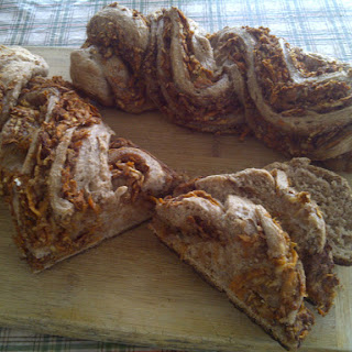 Twisted Cinnamon Carrot Apple Bread