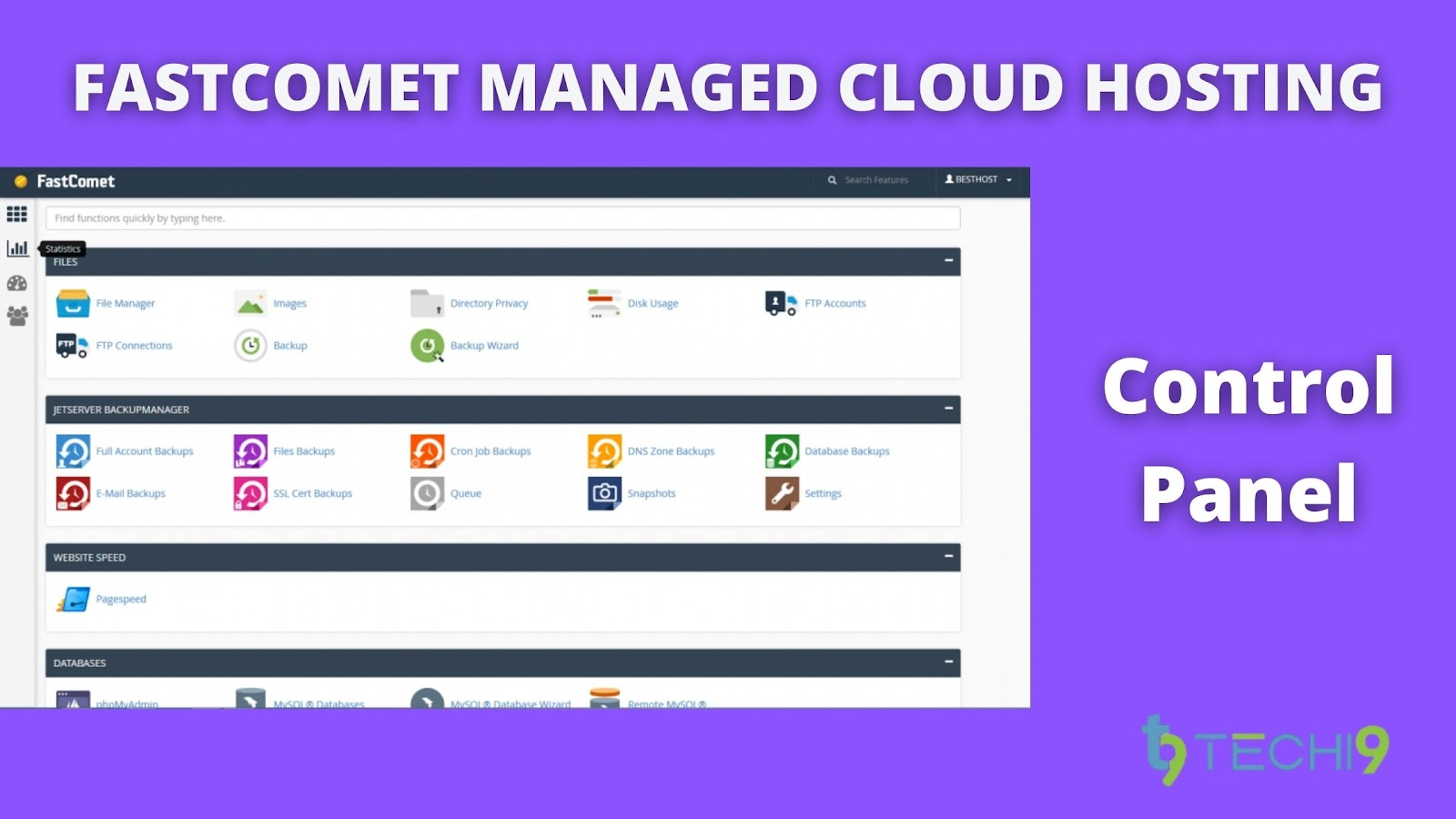 FastComet Managed Cloud Hosting - Control Panel
