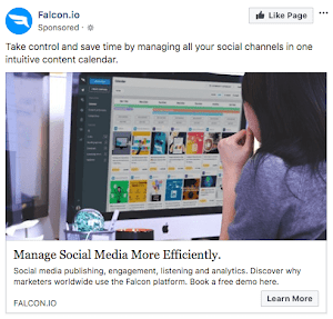 Falcon Facebook Ad Example