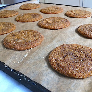 DOUBLE GINGER MOLASSES COOKIES.