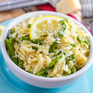 Lemony Orzo Pasta with Asparagus