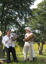 Photo: Rosa Maria and Anna on the Kings Barrows.... singing a song of remembering....