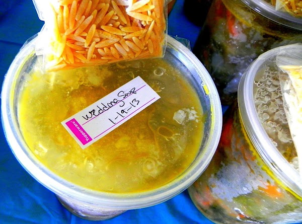 Label all your soups with name of soup and date so the ladies will...