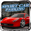 Car parking 3D sport car icon