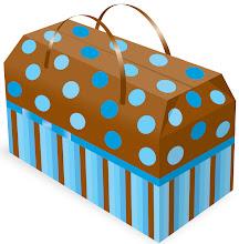 Photo: Figura ilustrativa de um protótipo de caixinha surpresa ou embalagem final para alimentos.