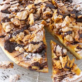 Peanut Honeycomb Baked Mascarpone Cheesecake