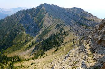 Photo: Mardi is on the trail below, heading back down into Honeymoon Basin.