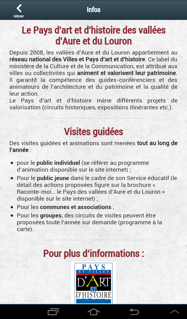 Скриншот Patrimoine Aure Louron