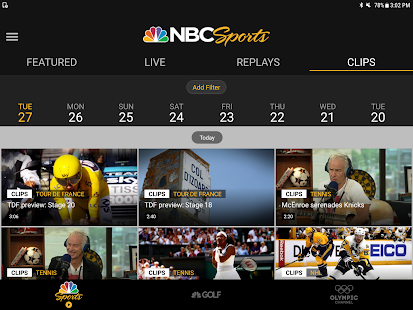 NBC Sports Screenshot