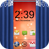 Curtain Lock Screen Theme3